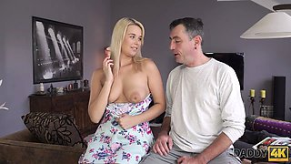 DADDY4K. Buxom beauty has to satisfy needs with dads hard prick