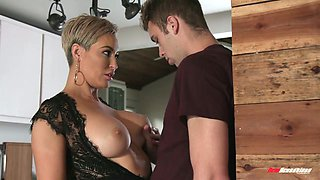 Gorgeous seductress Ryan Keely gets intimate with best friend of her son