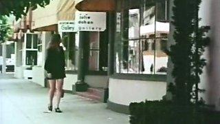 Nice retro redhead lady giving amazing sensual blowjob