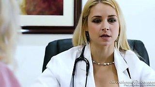 Lewd MILFie doctor Sarah Vandella lures nurse to lick her wet cunt
