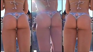 Candid Bikini Ass Duo- Amazing Gap Shots