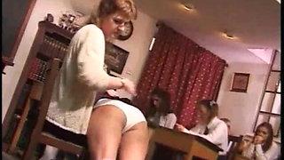 Over teachers knee for a smacking