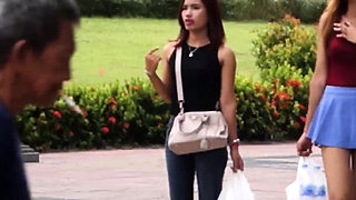 Blonde FILIPINA accedes to have POV bareback sex