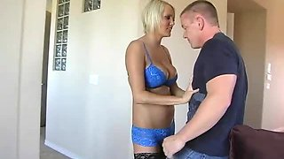 Blonde Cougar Hanna Hilton Gets A Taste Of A Big Fat Cock