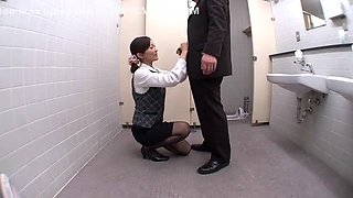 Exotic Japanese whore Aoki Misora in Horny Secretary, Swallow/Gokkun JAV movie