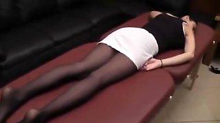 Sleeping foot worship