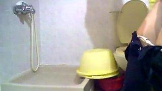 Girls Peeing in Toilet