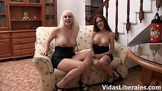 Isabel y Rafael, Candela X and Noa go wild during their group sex