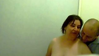 Horny mature aunt riding her hubby's hard dick in reverse cowgirl pose