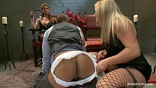 sexy blonde bitches find a new toy
