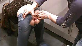 Horny gf greedy gaping butt hole