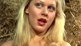 Hot and lusty Danish slutty girls having sex in the barn