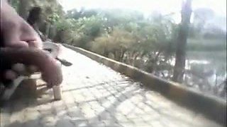 Desi Guy Flashing His Dick To Desi Girls In Garden