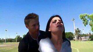 Fetching breasty Erin Marxxx in sport sex video
