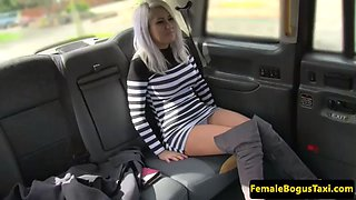 lesbian cabbie queening younger client