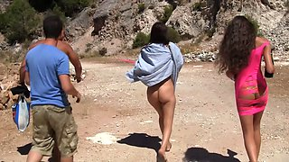 Raging outdoor agonorgasmos from a group of hot students