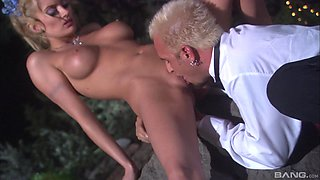 Blonde vixen Monica Mayhem cannot resist a man's boner