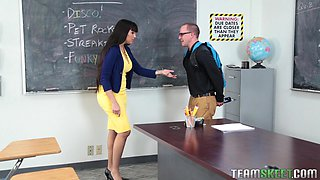 slutty teacher needs some fresh dick