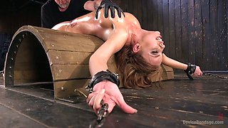 Perverted dude punishes pussy of sex-appeal red head Britney Amber