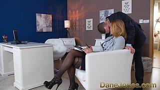 Dane Jones Redhead office secretary in stockings and heels