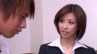 Incredible Japanese whore Akari Asahina in Hottest Secretary JAV clip
