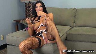 Horny pornstar Romi Rain in Exotic Brunette, Masturbation sex clip