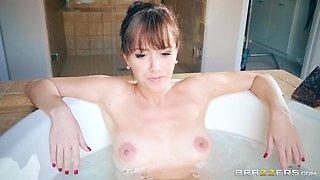 busty milf in the tub