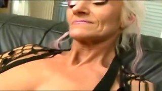 Blonde Skinny GILF Takes Monster Cock
