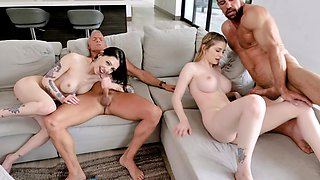 hard foursome is unforgettable experience for lovely Bunny Colby