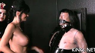babe chokes and kicks slave film