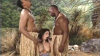 Young Woman Getting Fucked By A Tribe Of African Men