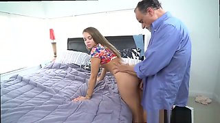 Dad jerking sleeping boss's daughter first time He could not believe how