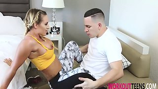 cali carter her perfect body was workout on dick