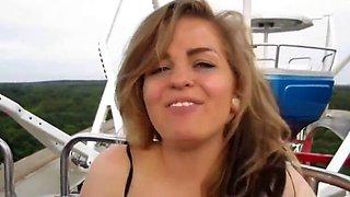 German frankfurter girl masturbates in front of strangers