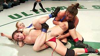 Three Sluts Wrestling For Supremacy