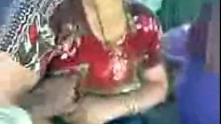 Indian village aunty boob show