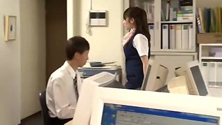 Crazy Japanese model Yui Hoshino in Exotic Gangbang, Secretary JAV clip