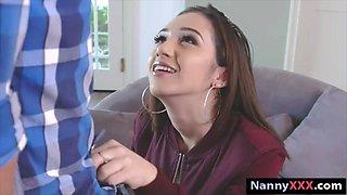 Tight teen nanny Lilly Jordan gets slammed by pervert man