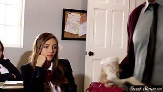 Classy schoolgirl dickriding passionately