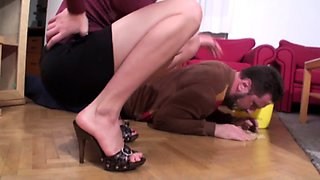 Young Mistress humiliate slaves
