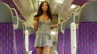 Flashing in a public train