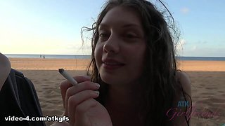 Elena Koshka in Elena Pees On The Beach And Sucks Your Cock Too - ATKGirlfriends