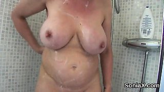 Adulterous british milf gill ellis pops out her monster knoc