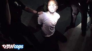 cops force black stud into banging them in threeway
