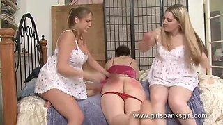 Drunk girl spanked