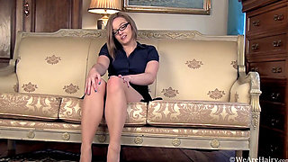 Kylie Harris Couch Strip and Stockings