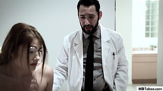 Naive and virgin teen fucked by a pervert doc