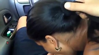 Romanian girl blowjob and swallow in car