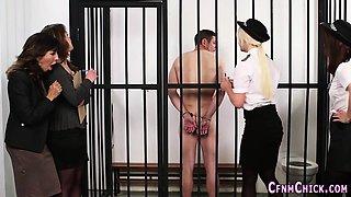 Cfnm police domina inmate