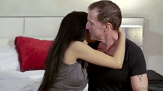 Cute Philippine babe Lucky Starr gets intimate with her step daddy